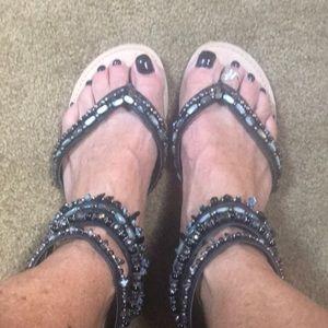 Sandals Black/browns/Blue